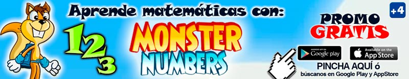 Juega y aprende con Monster Numbers